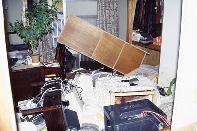 震災時の室内の写真